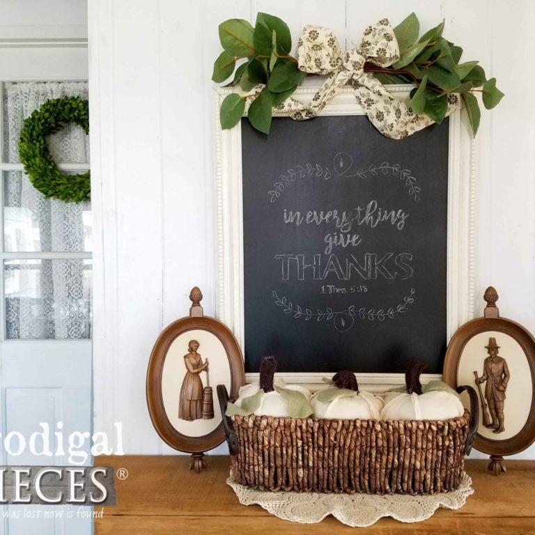 DIY Last-minute Thanksgiving Day Vignette by Larissa of Prodigal Pieces | prodigalpieces.com