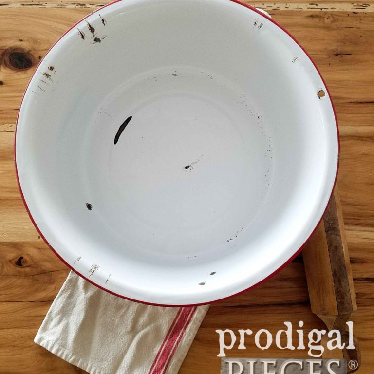 Enamelware Wash Basin available at prodigalpieces.com