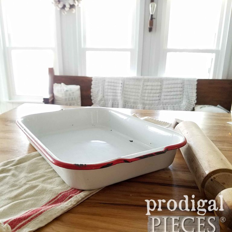 Rustic Farmhouse Enamel Baking Pan | Available at prodigalpieces.com