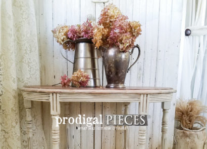 Antique Side Table With Refreshed New Look