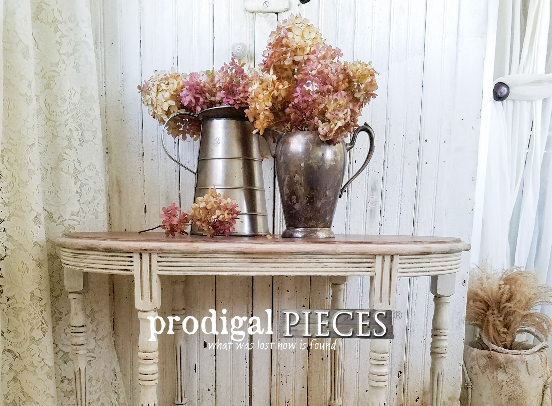 Featured Antique Side Table by Larissa of Prodigal Pieces | prodigalpieces.com
