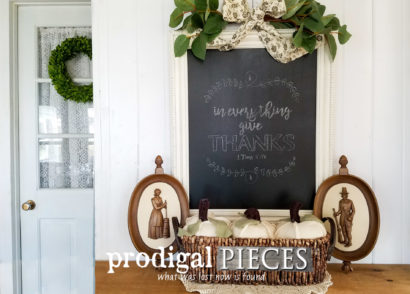 Featured Last-Minute Thanksgiving Holiday Decor Tutorial by Prodigal Pieces | prodigalpieces.com