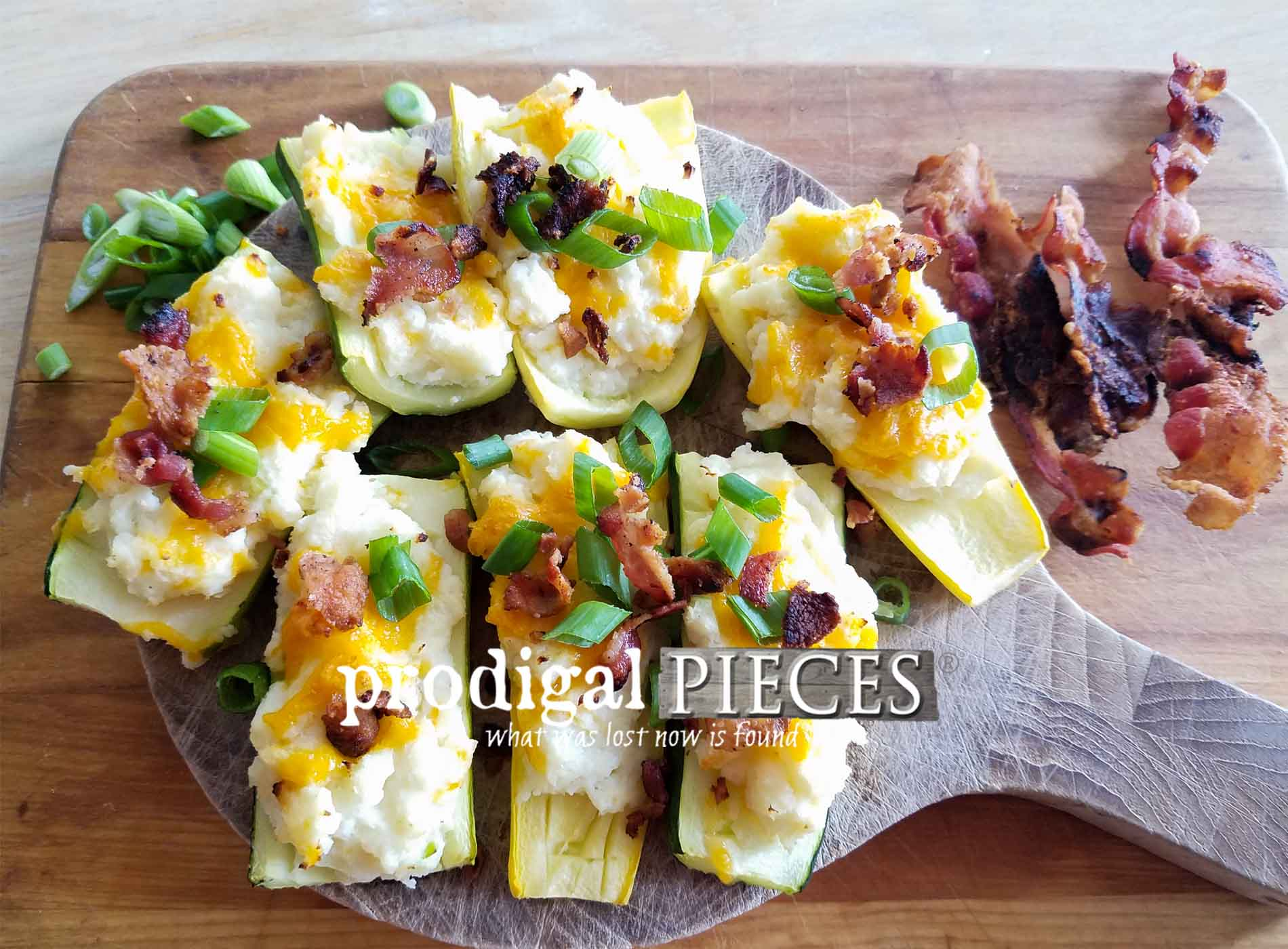 Featured Potatoless Twice Baked Potatoes by Larissa of Prodigal Pieces | prodigalpieces.com