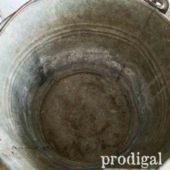 Inside Galvanized Pail | prodigalpieces.com