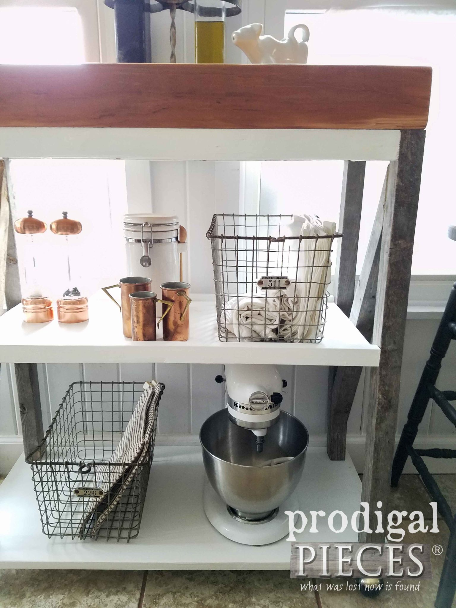 Farmhouse Style Storage Cart by Prodigal Pieces | prodigalpieces.com