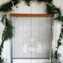 O Holy Night Repurposed Holiday Window Screen Wall Art by Prodigal Pieces | prodigalpieces.com