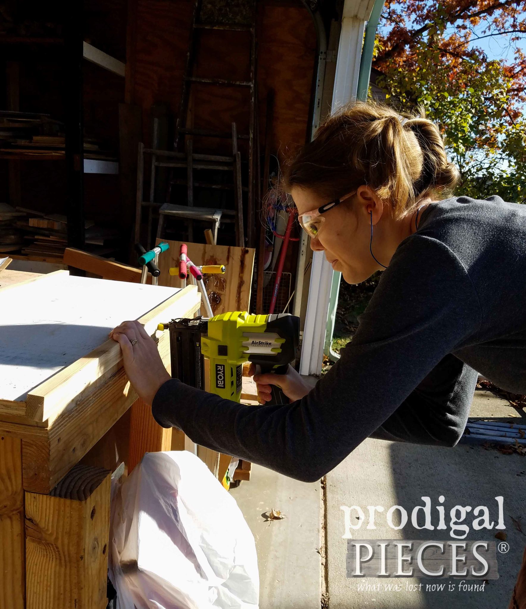 Ryobi AirStrike Nailer for Building Reclaimed Cart by Larissa of Prodigal Pieces | prodigalpieces.com