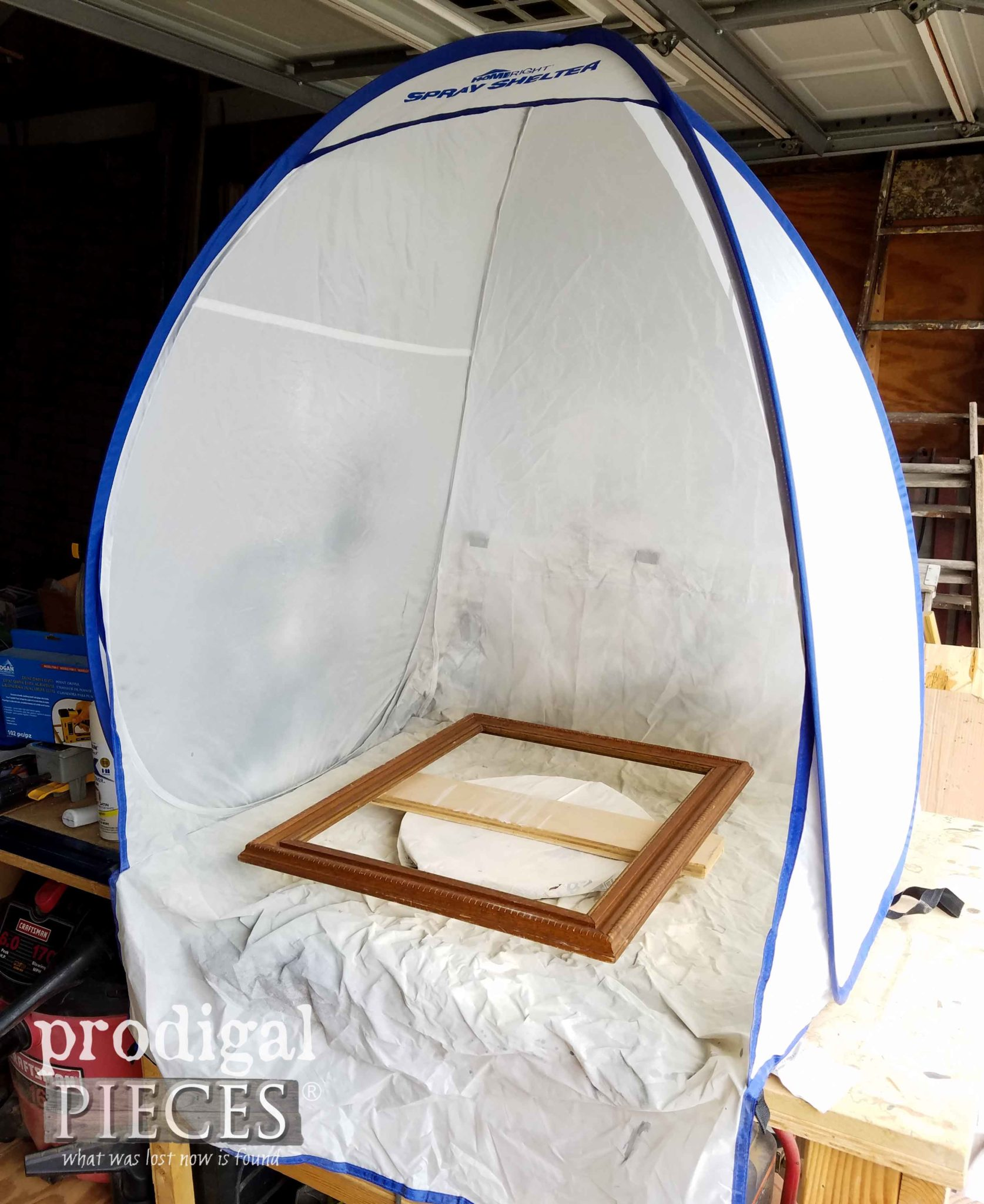 HomeRight Small Spray Shelter for Painting Picture Frames by Prodigal Pieces | prodigalpieces.com