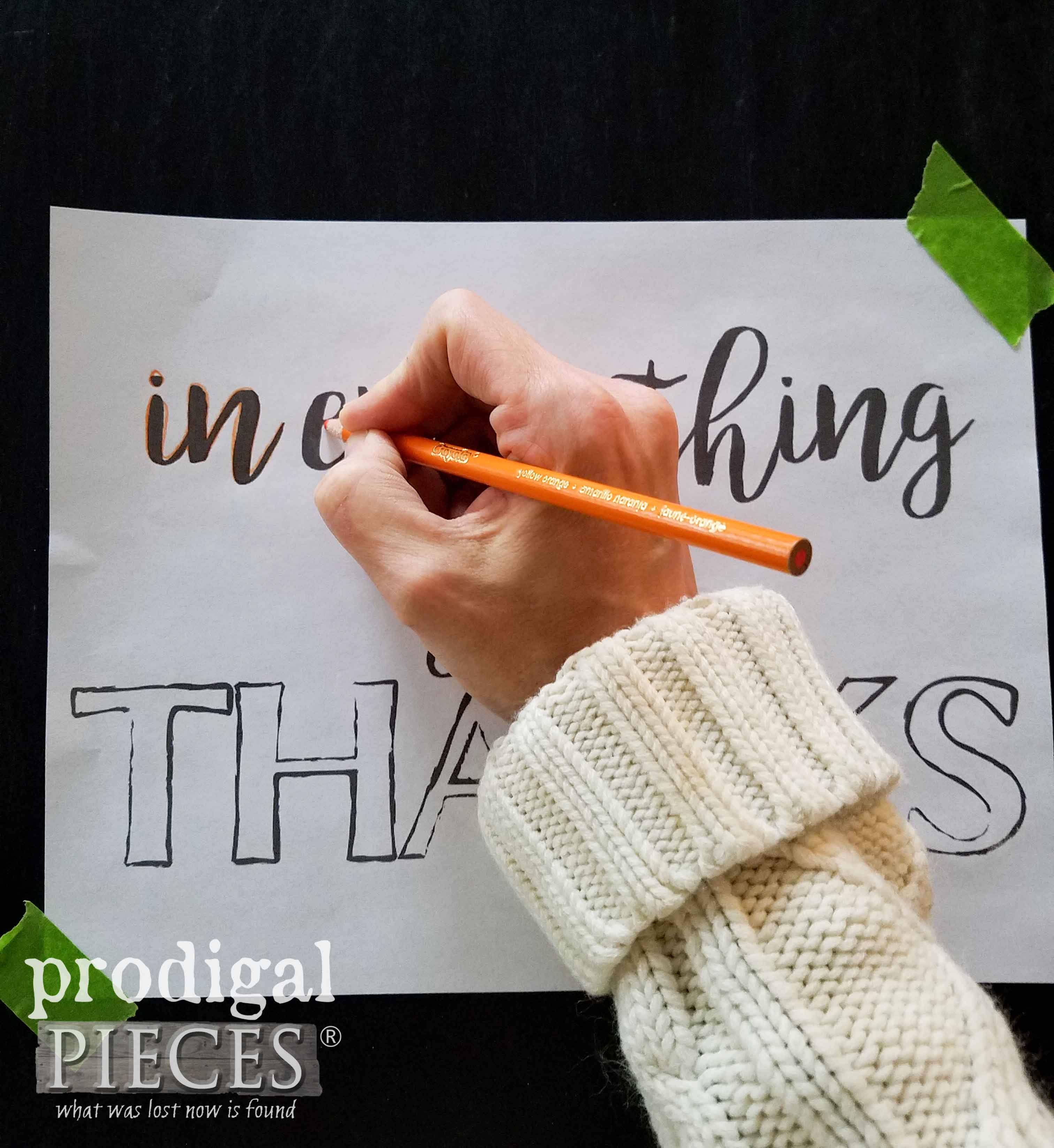 Tracing Thanksgiving Chalkboard Art by Prodigal Pieces | prodigalpieces.com