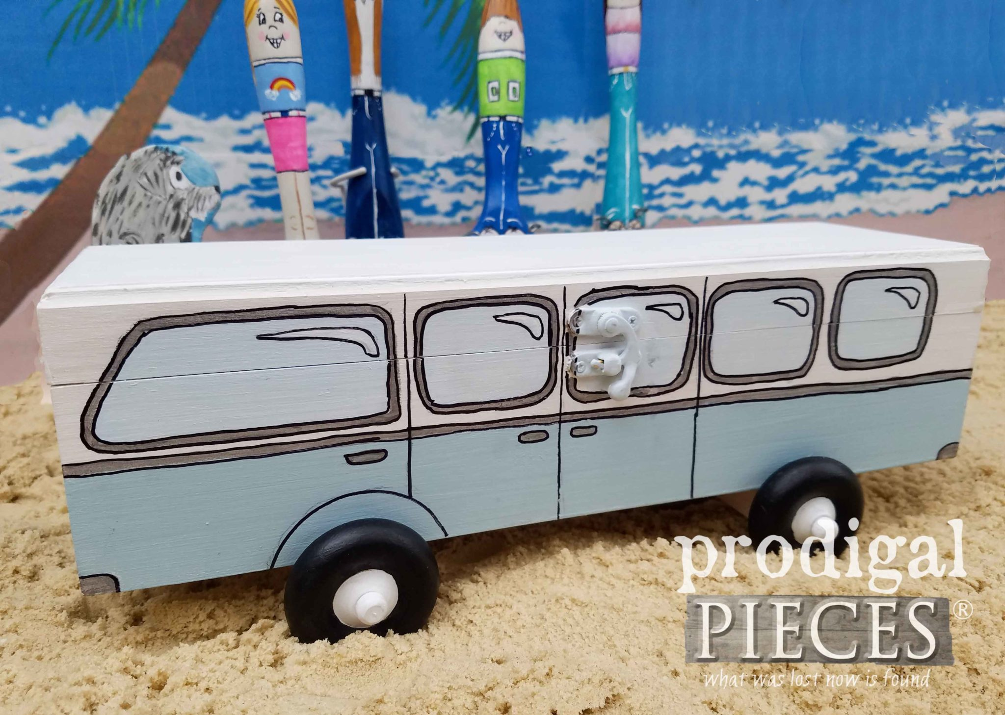 Volkswagen Mini BEEP bus by Larissa of Prodigal Pieces | prodigalpieces.com