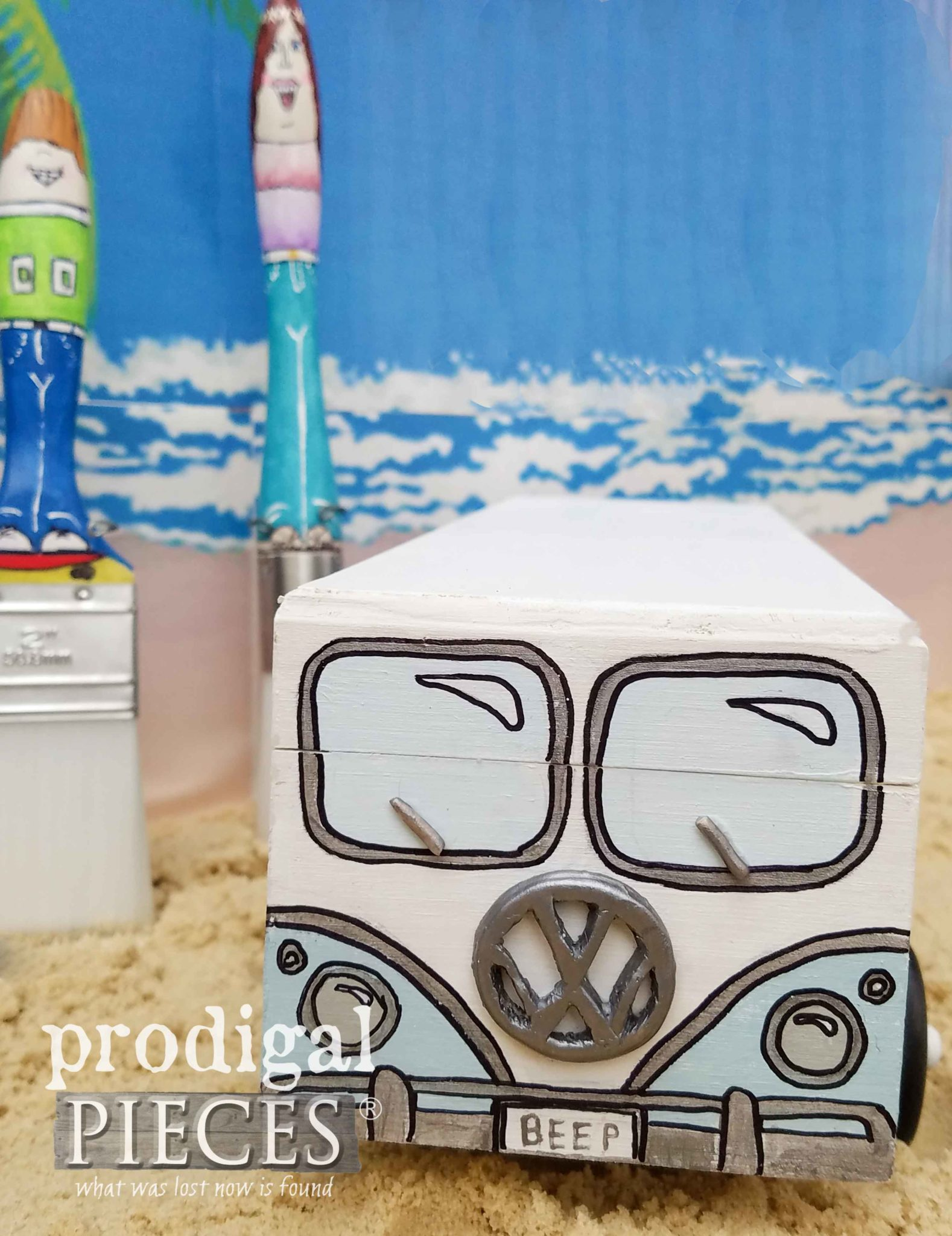 Mini Volkswagen Bus created by Larissa of Prodigal Pieces | prodigalpieces.com