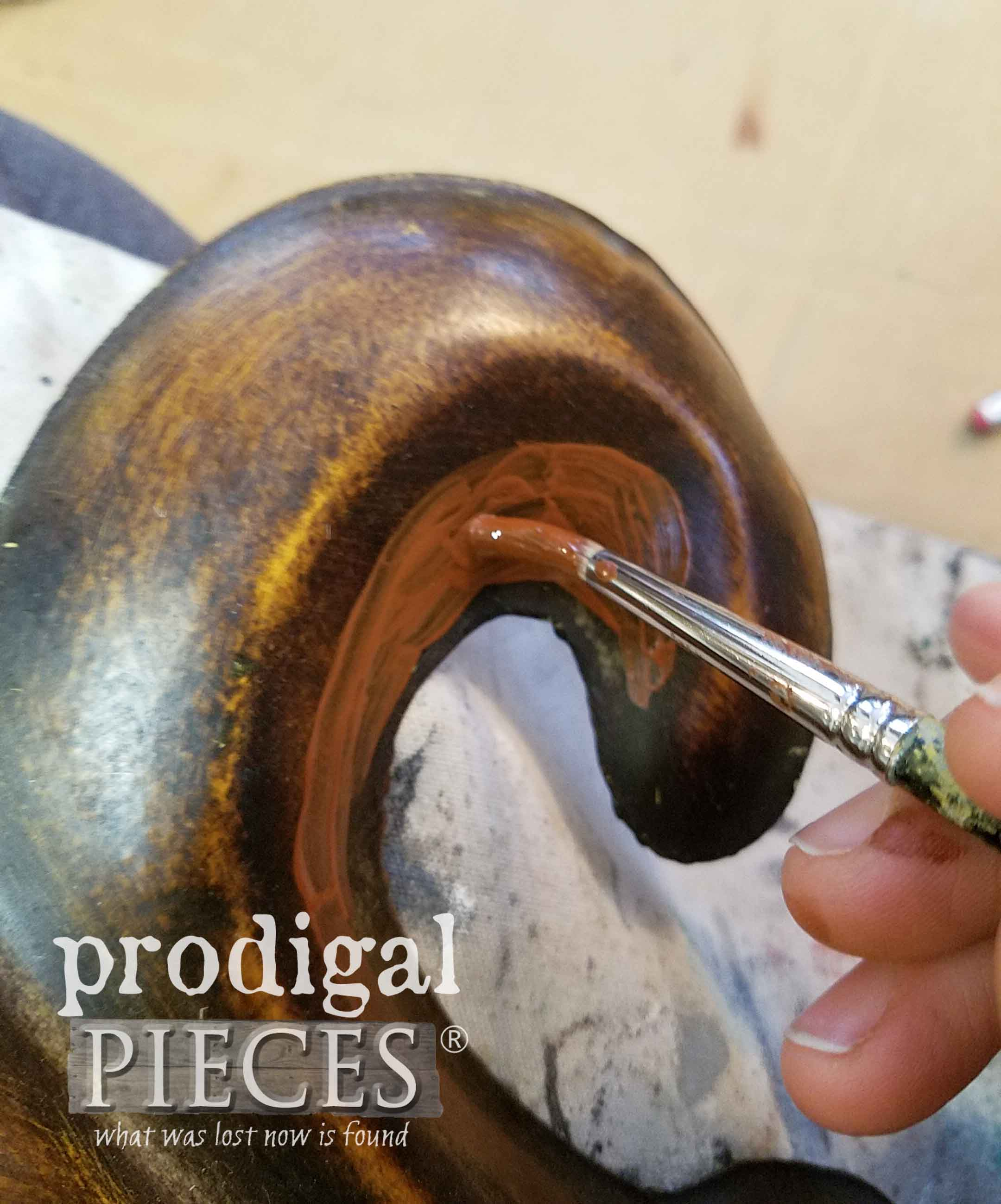 Applying Patina Paint Primer by Dixie Belle | prodigalpieces.com