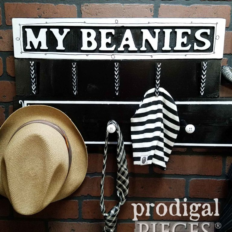 Beanie Hat Shelf Created by Larissa of Prodigal Pieces | prodigalpieces.com