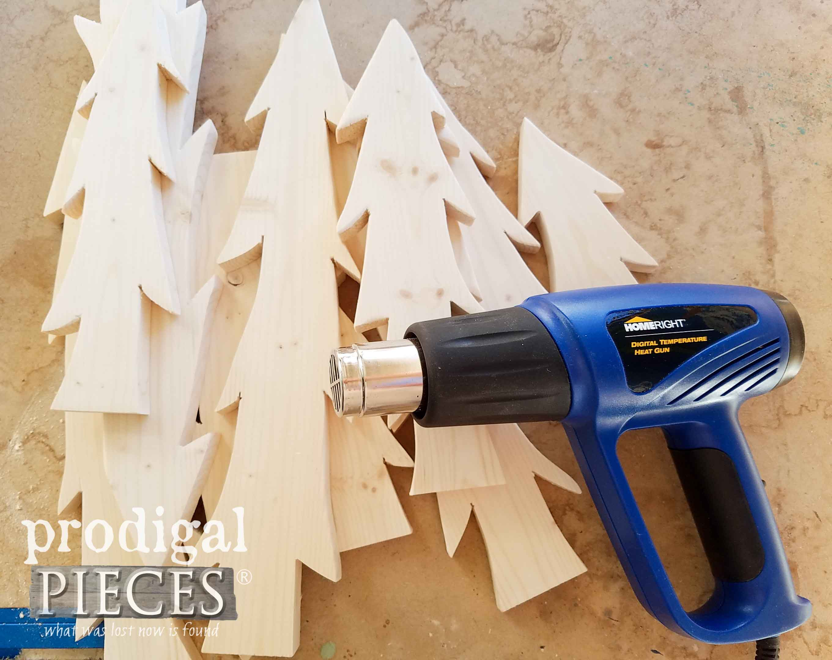 How to Use a HomeRight Heat Gun for Wood Burning by Larissa of Prodigal Pieces | prodigalpieces.com