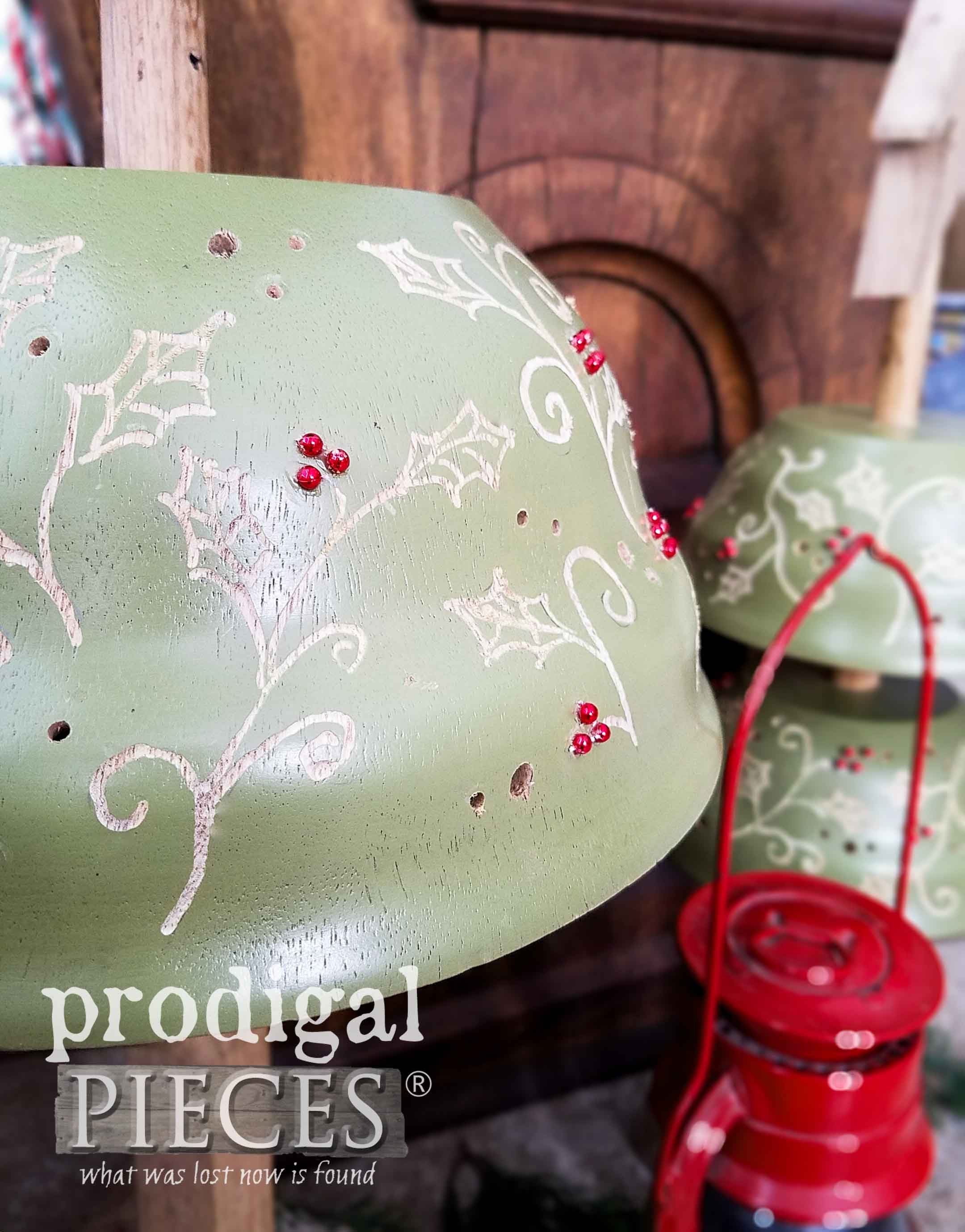 Detail Work on Repurposed Christmas Trees by Larissa of Prodigal Pieces | prodigalpieces.com