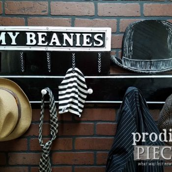 Dapper Beanie Hat Hanger and Vintage Style Coat Rack Repurposed and Built by Larissa of Prodigal Pieces | prodigalpieces.com
