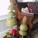 DIY Rustic Repurposed Christmas Trees from Upcyled Salad Bowls by Larissa of Prodigal Pieces | prodigalpieces.com