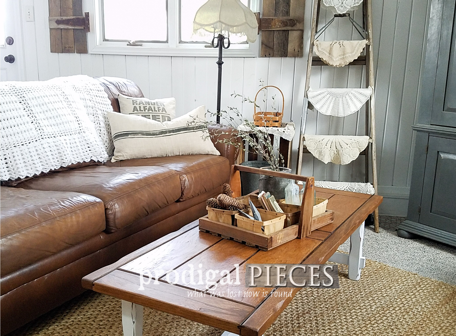 Featured Farmhouse Coffee Table Makeover by Larissa of Prodigal Pieces | prodigalpieces.com