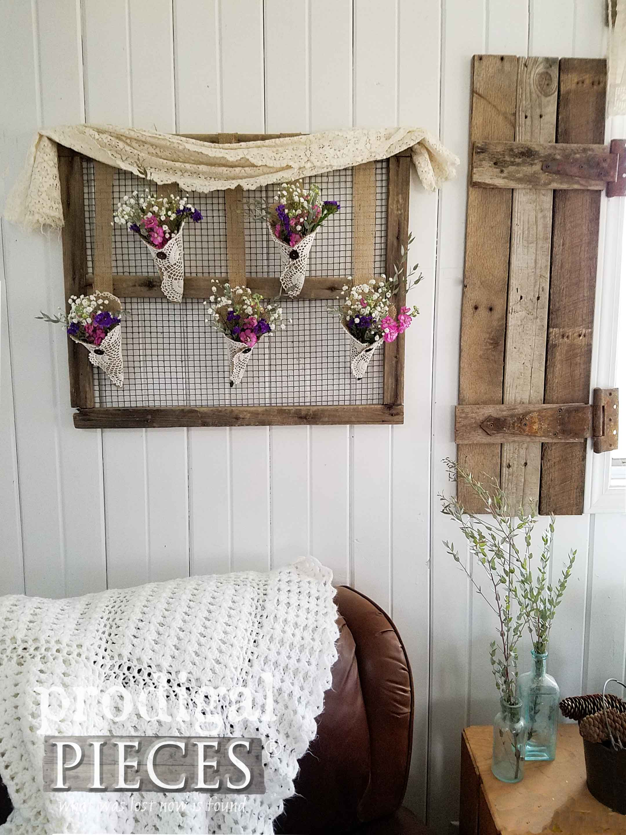 Rustic Wall Art from Flea Market Finds for Farmhouse Cottage and more. Available at Prodigal Pieces | prodigalpieces.com