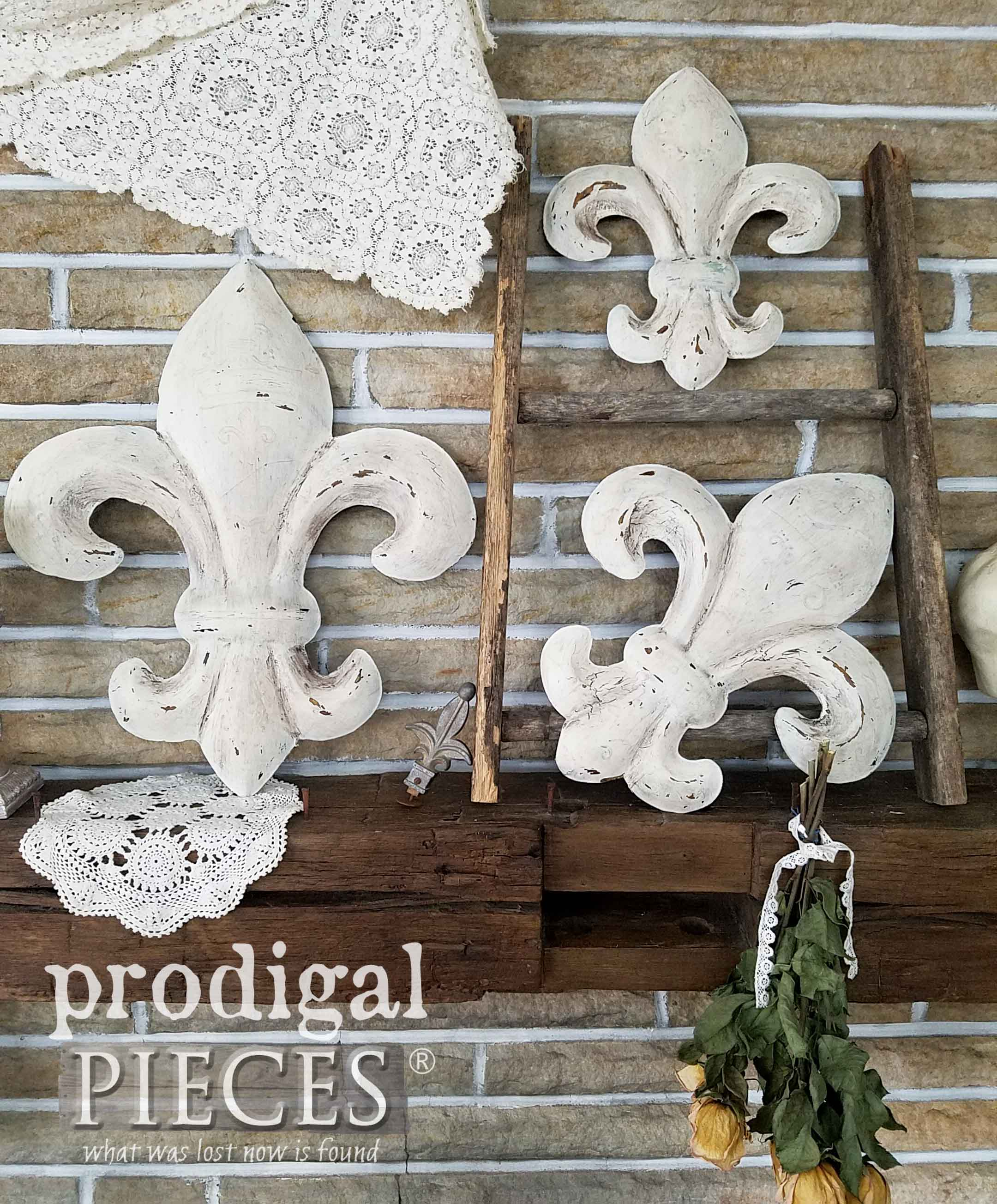 French Farmhouse Style Fleur De Lis Wall Art By Prodigal Pieces |  Prodigalpieces.com
