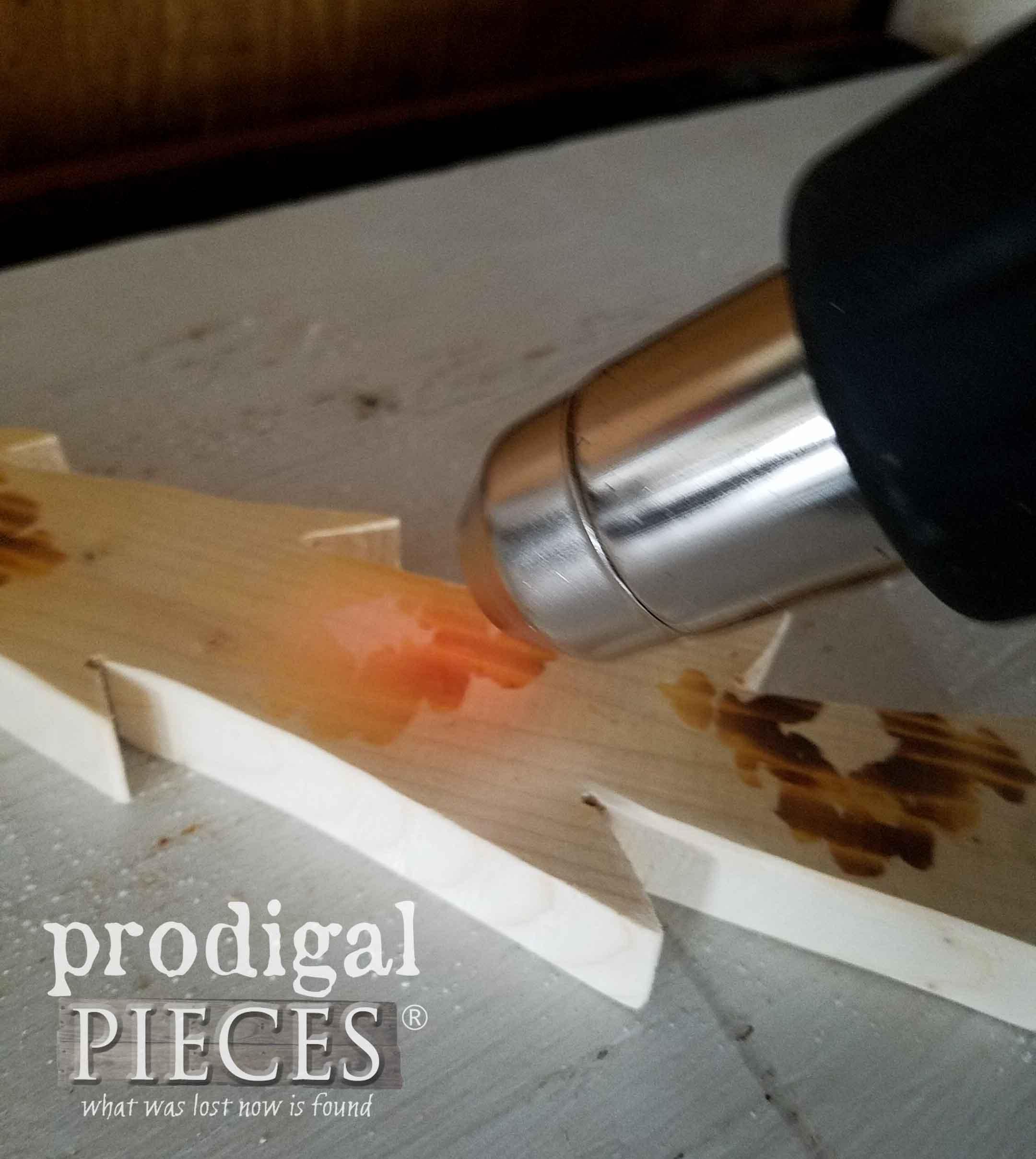 Holding Heat Gun at Angle | prodigalpieces.com