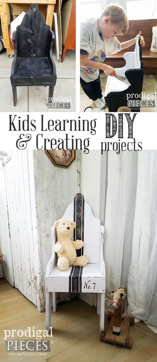 Kids can DIY! It only takes a bit of time to get kids off their devices and creating their own projects. Come over to see how easy it can be. By Prodigal Pieces | prodiglapieces.com