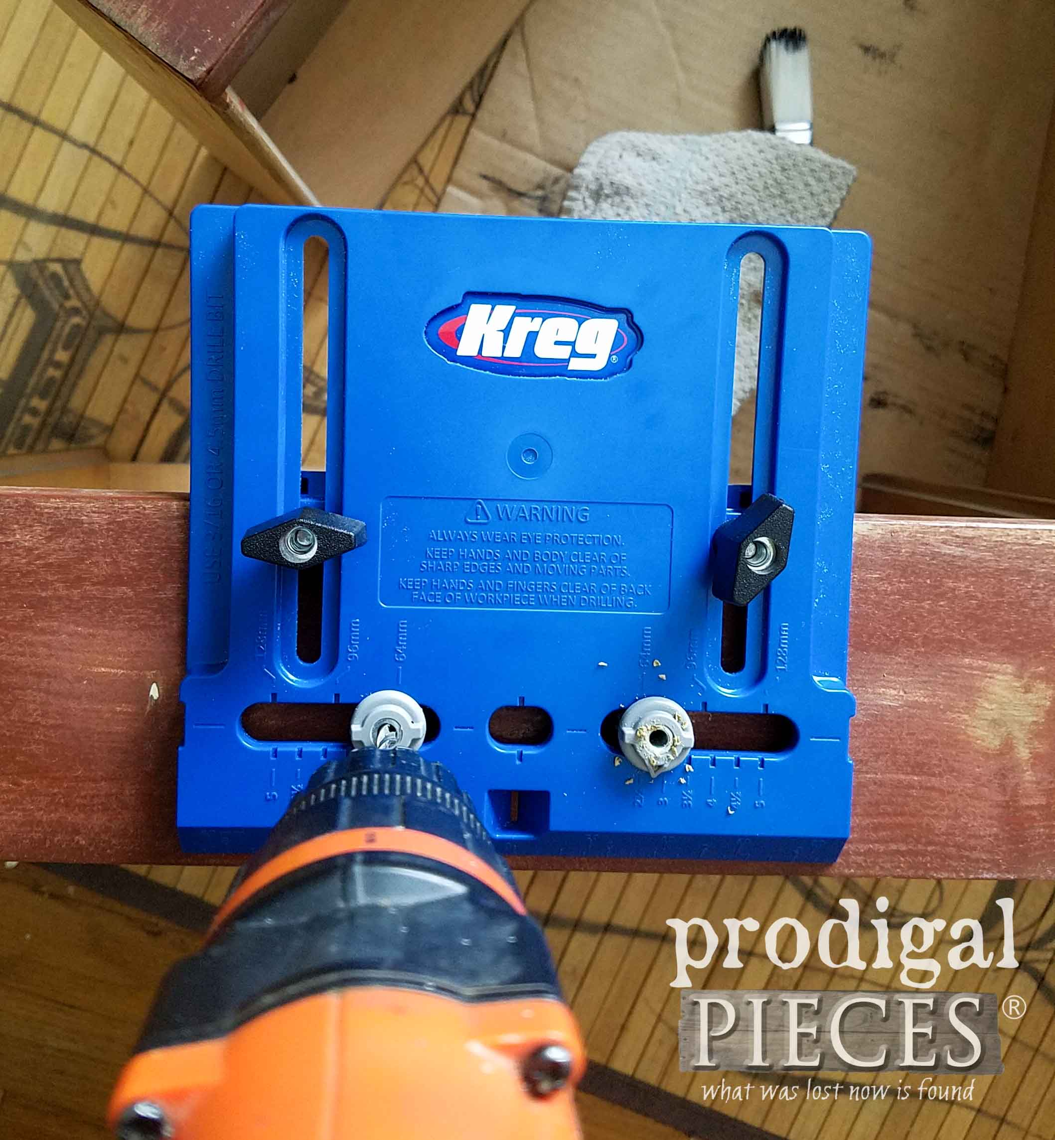 Kreg Drawer Pull Knob Jig for Furniture Restoration by Prodigal Pieces | prodigalpieces.com