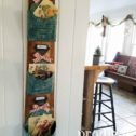 Christmas Wall Pockets mounted on Reclaimed Wood for holiday decor by Larissa of Prodigal Pieces | prodigalpieces.com