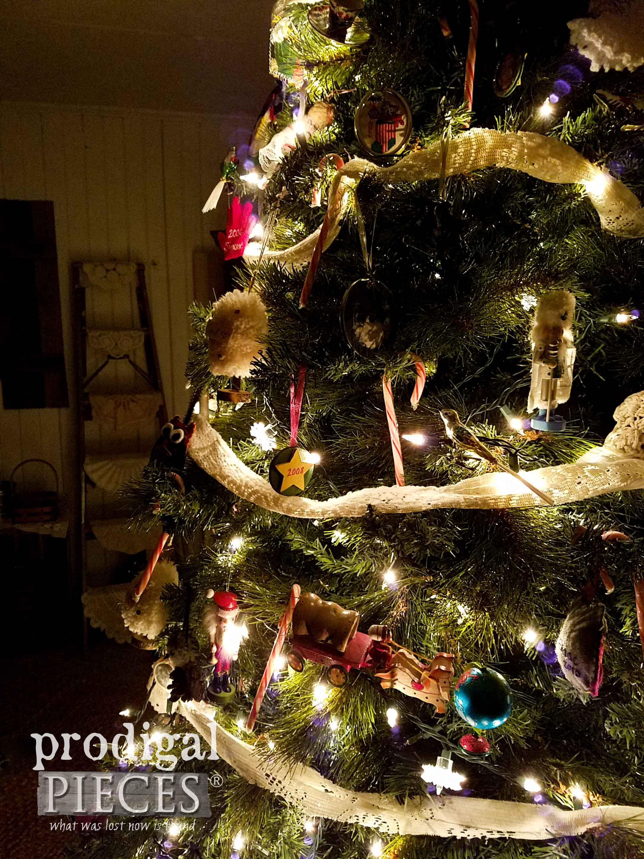 Christmas Tree at Night by Prodigal Pieces | prodigalpieces.com