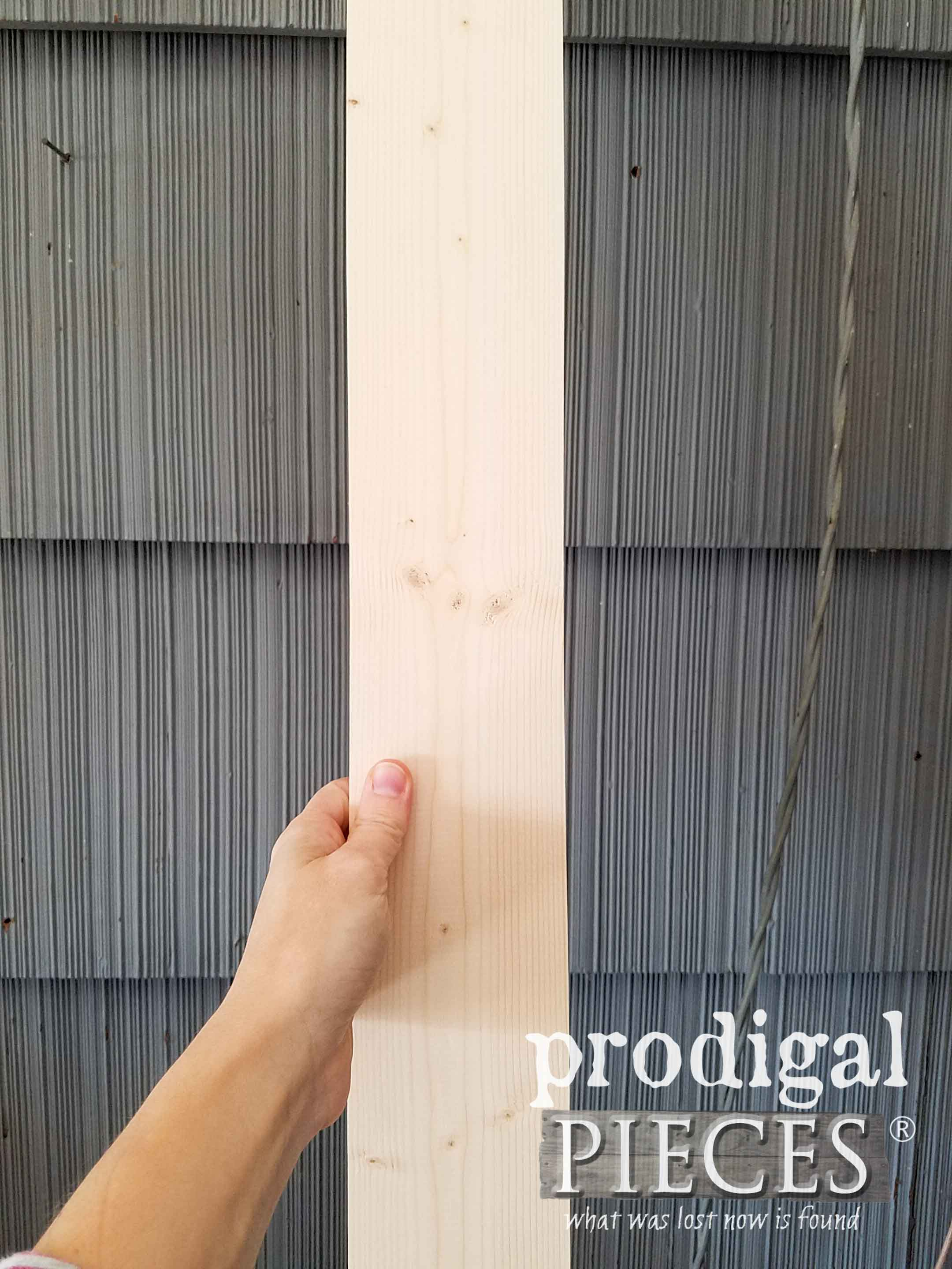Basic Pine Board Plank for Nordic Wooden Trees DIY by Larissa of Prodigal Pieces | prodigalpieces.com