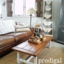 Rustic Farmhouse Coffee Table - DIY decor shared by Larissa at Prodigal Pieces | prodigalpieces.com