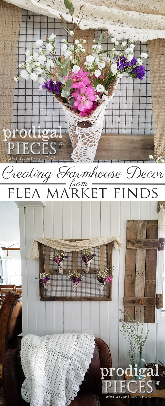 Keep it simple and DIY your own rustic farmhouse wall art from flea market finds. Get the details here at Prodigal Pieces | prodigalpieces.com