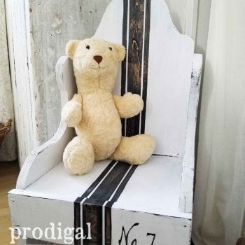 Rustic Grain Sack Chair by Prodigal Pieces | prodigalpieces.com