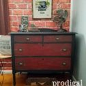 Rustic Industrial Chest Makeover of a Vintage Chest of Drawers by Prodigal Pieces | prodigalpieces.com