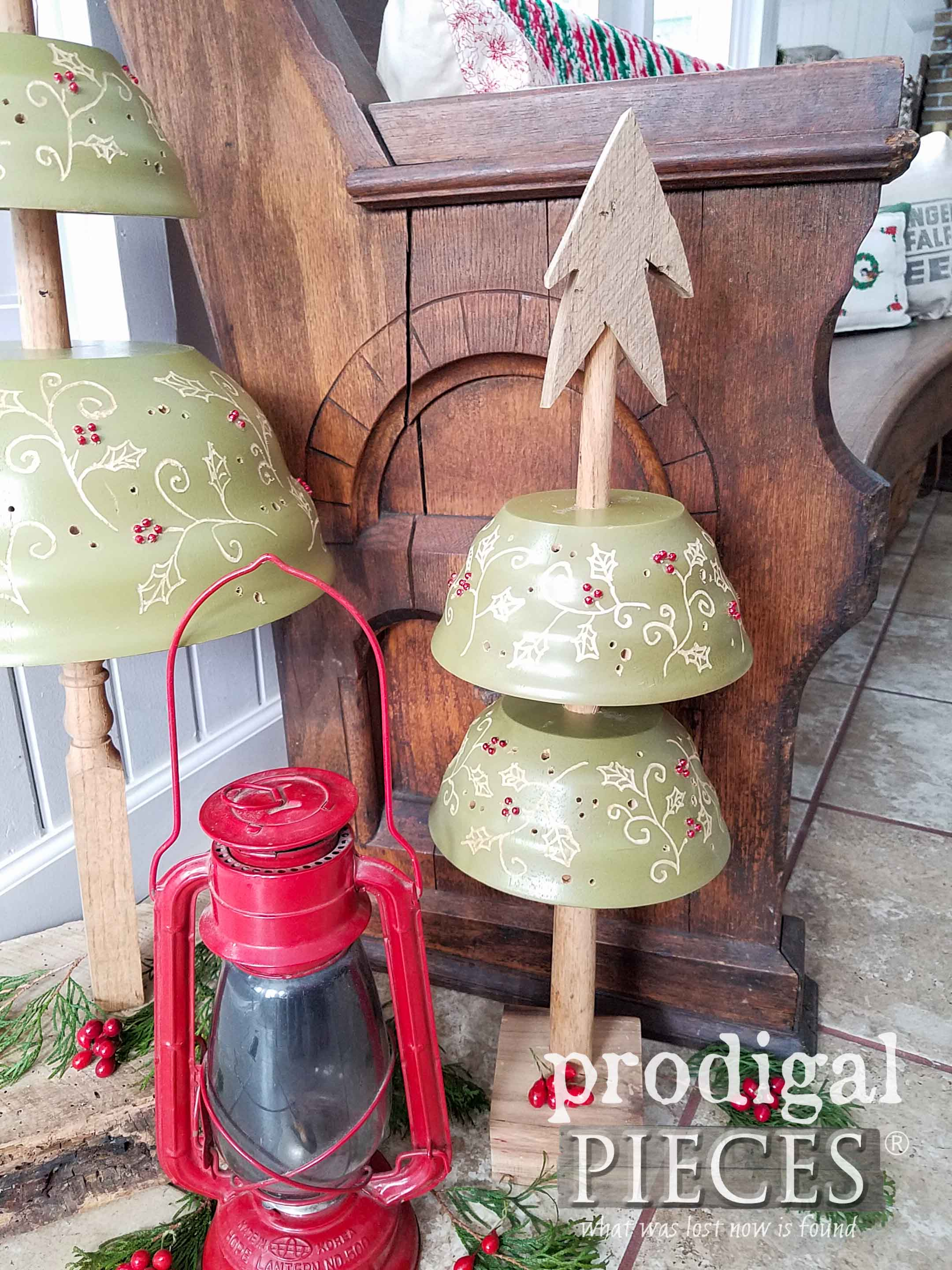 Rustic Repurposed Christmas Tree Set by Larissa of Prodigal Pieces | prodigalpieces.com