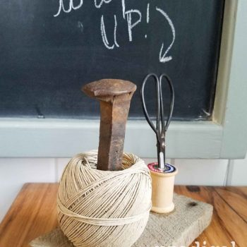 Rustic Farmhouse Twine Holder | prodigalpieces.com
