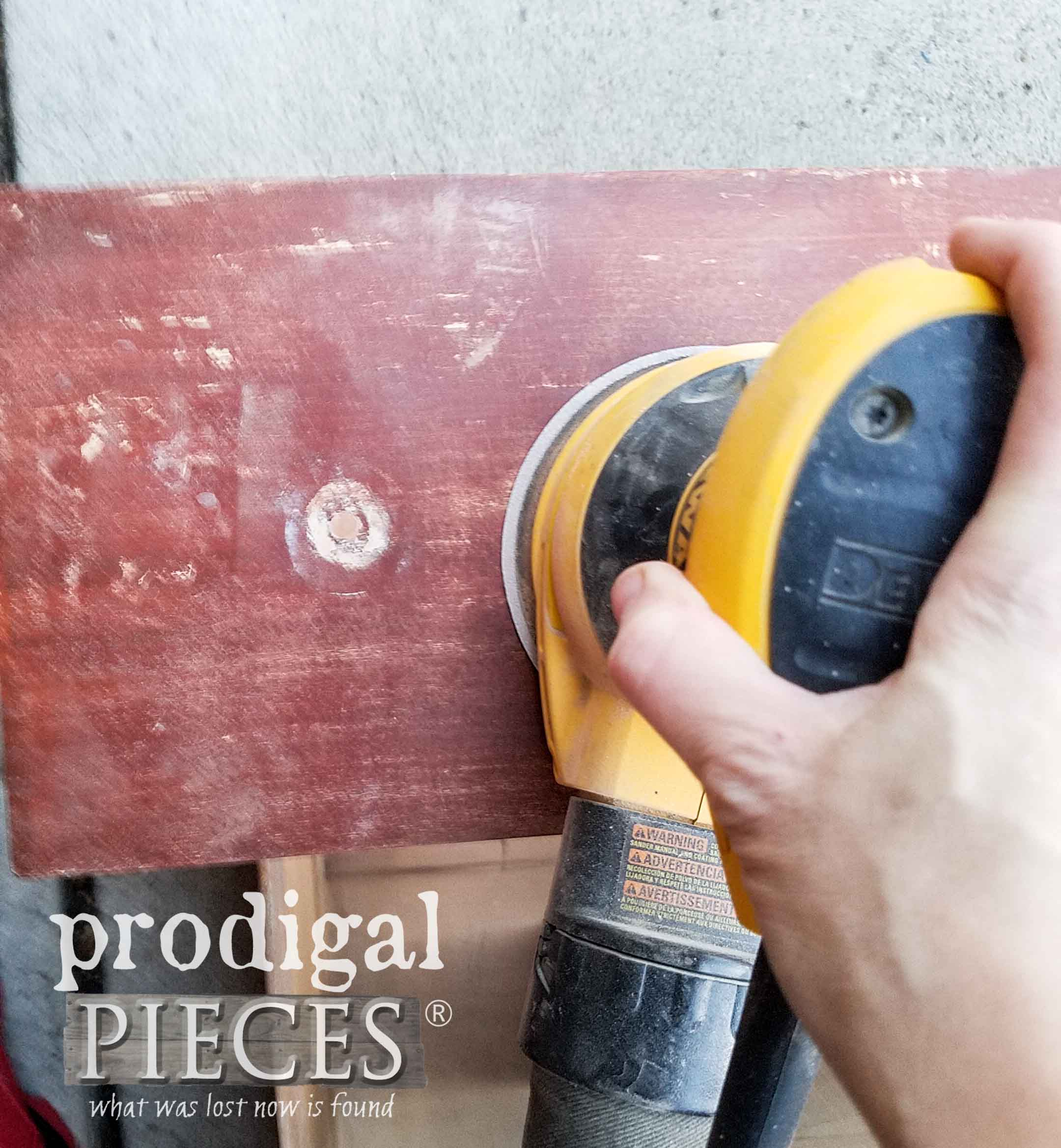 Sanding Drawer Fronts | prodigalpieces.com