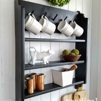 Thrifted Mug Rack Shelf by Prodigal Pieces | prodigalpieces.com