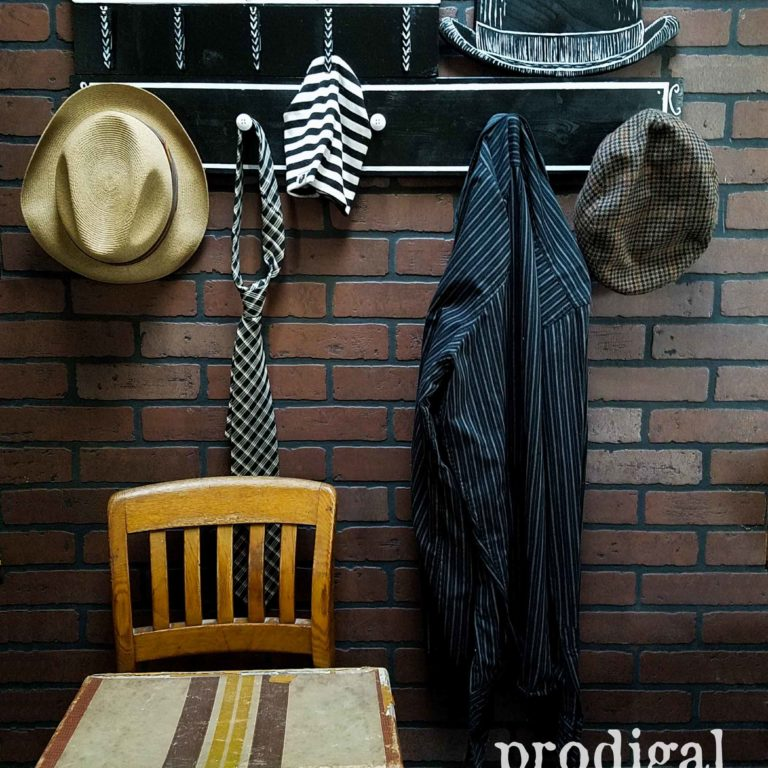 Vintage Style Beanie Hat Coat Rack and Shelf by Larissa of Prodigal Pieces | prodiglapieces.com