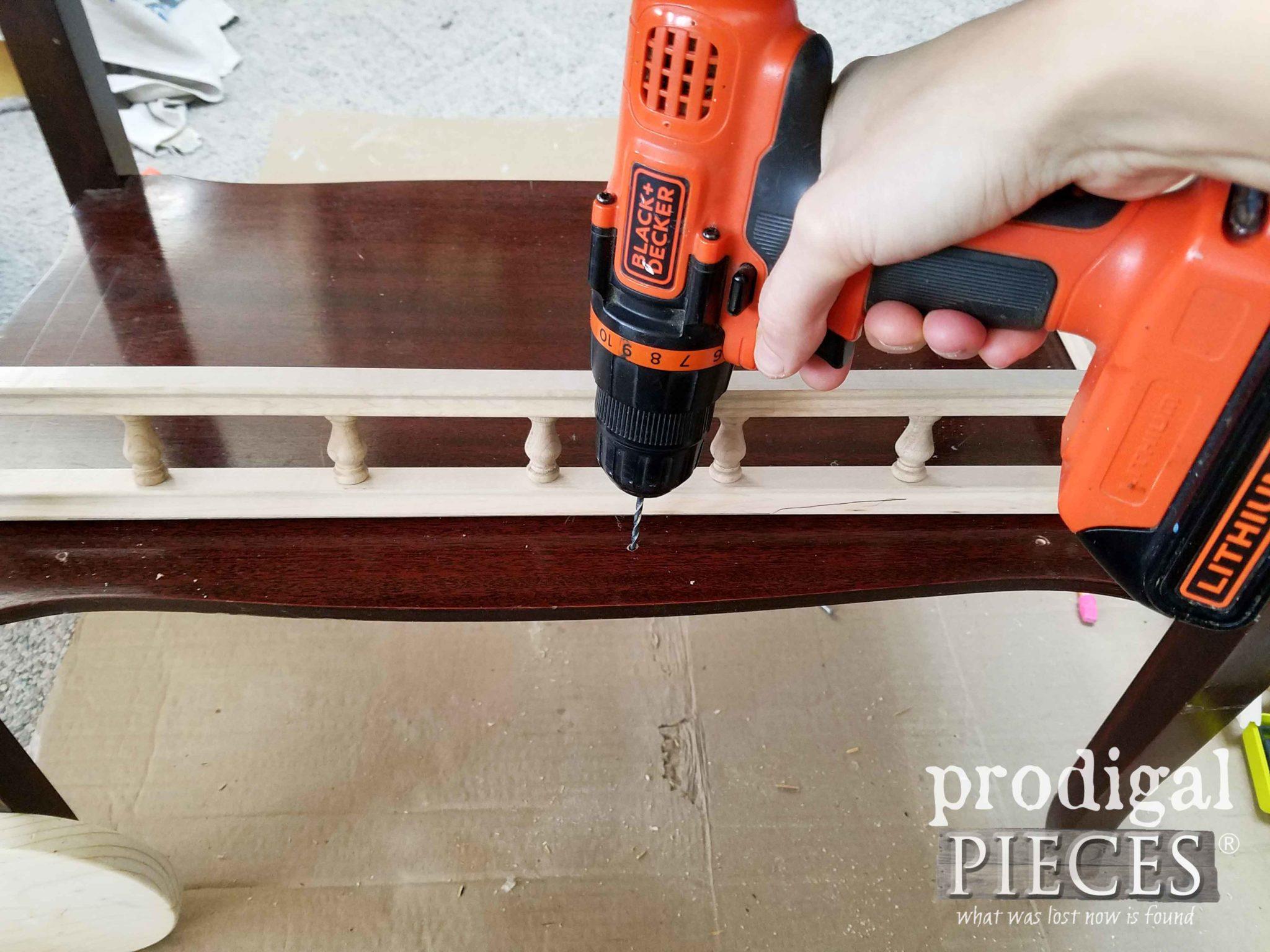 Adding Tea Cart Rail | prodigalpieces.com