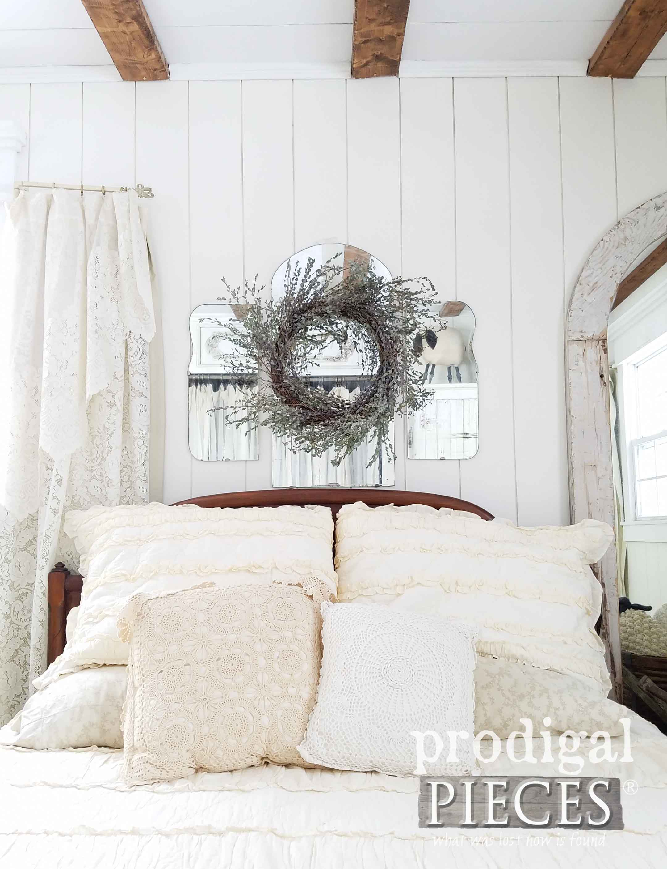 Farmhouse Bedroom Made Complete with DIY tutorials at Prodigal Pieces | prodigalpieces.com