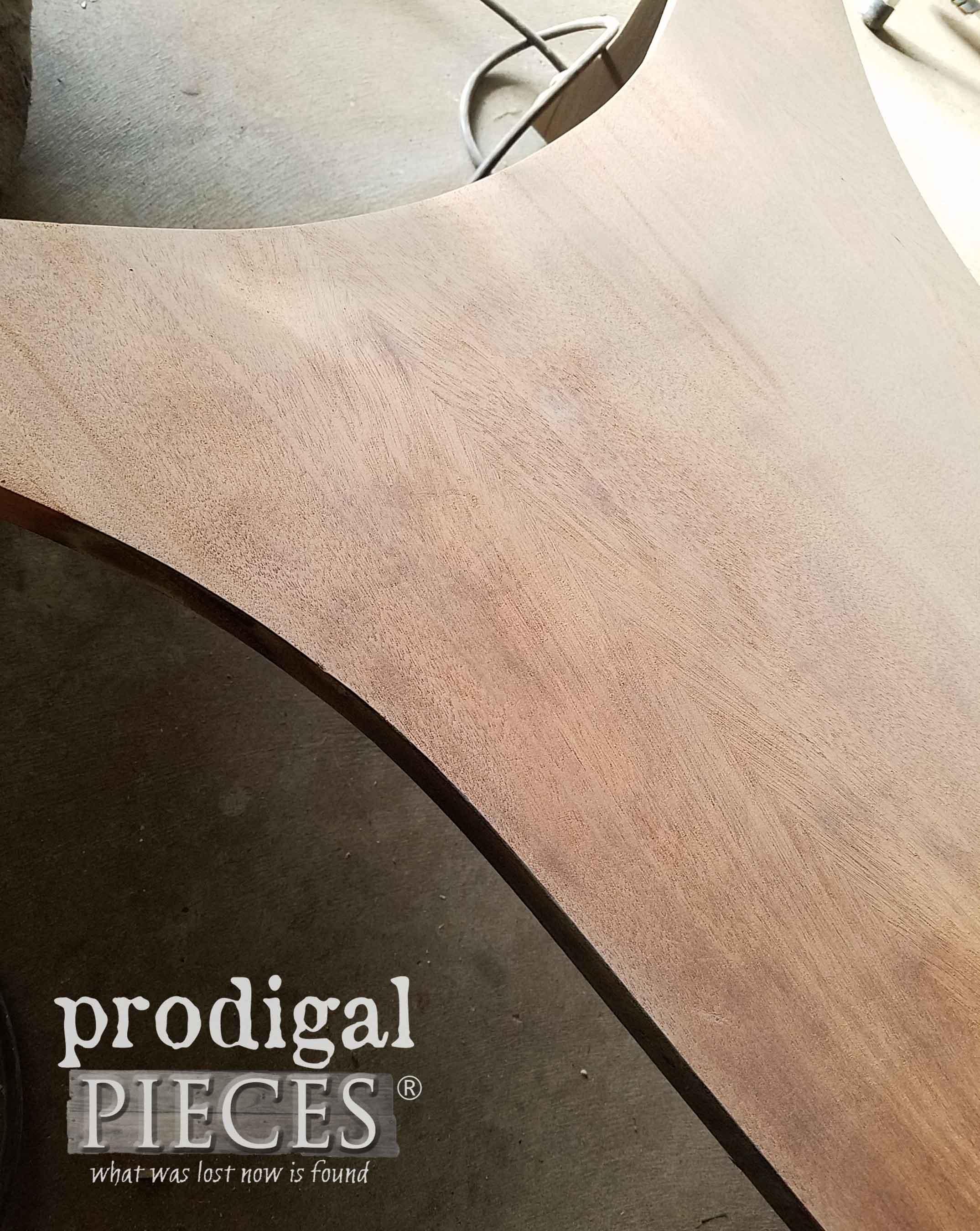 Mahogany Veneer on Library Table Shelf   prodigalpieces.com