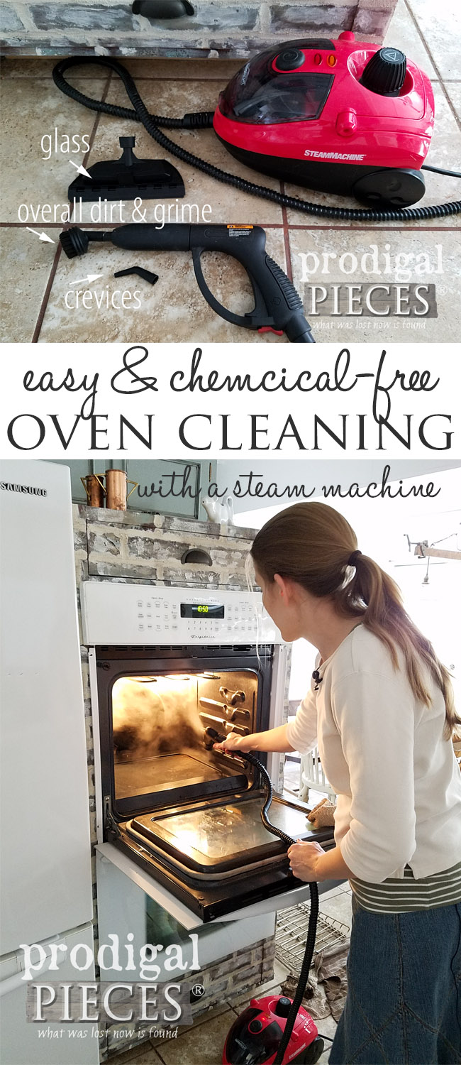 Unreal. I had no idea how easy cleaning an oven could be! Check out this Chemical-Free Oven Cleaning video tutorial and guide by Larissa of Prodigal Pieces | Pin to save for later! | prodigalpieces.com
