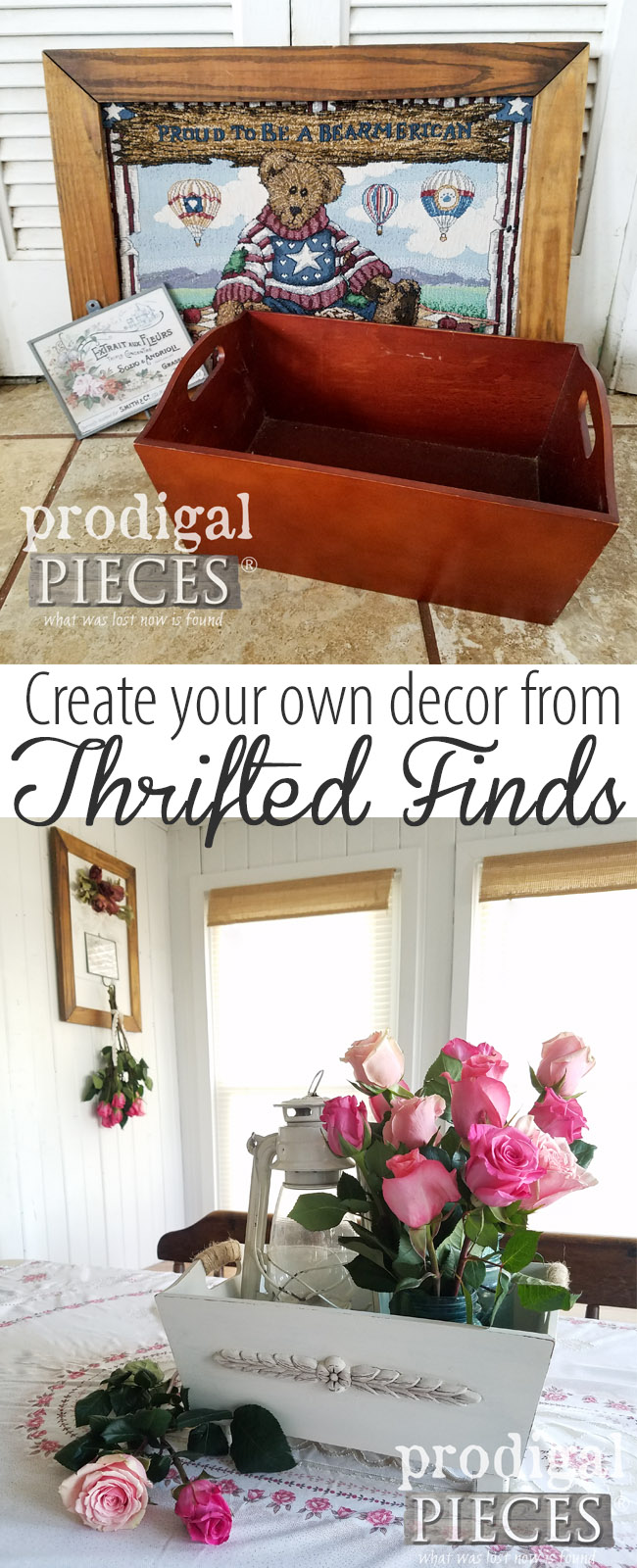 Who knew thrift store finds could look so good! Come see how a little TLC goes a long way to create your own DIY Decor with Larissa of Prodigal Pieces | prodigalpieces.com