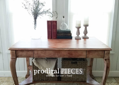 Featured Antique Library Table Made New by Larissa of Prodigal Pieces | prodigalpieces.com
