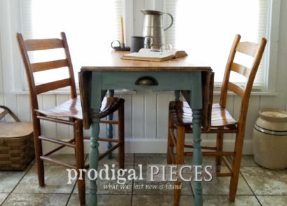 Featured Farmhouse Drop Leaf Table by Larissa of Prodigal Pieces | prodigalpieces.com