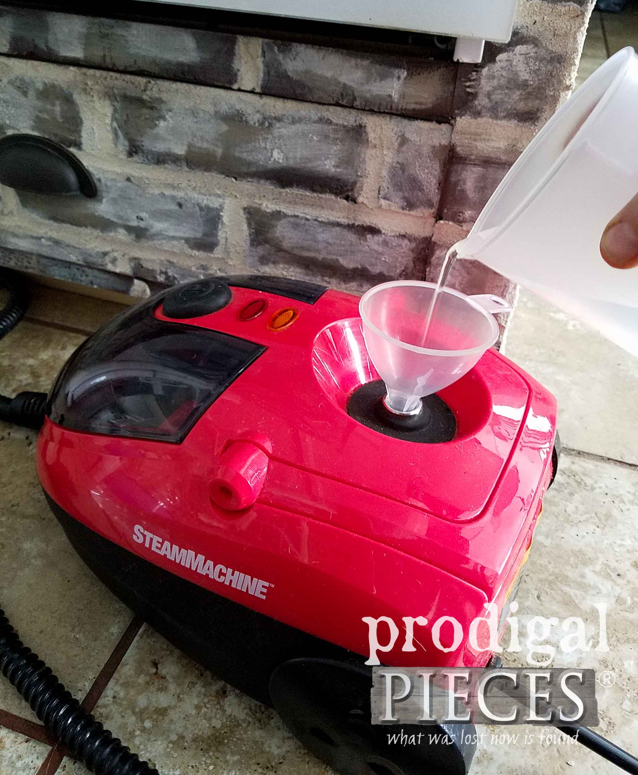 Filling the HomeRight Steam Machine with Distilled Water | prodigalpieces.com