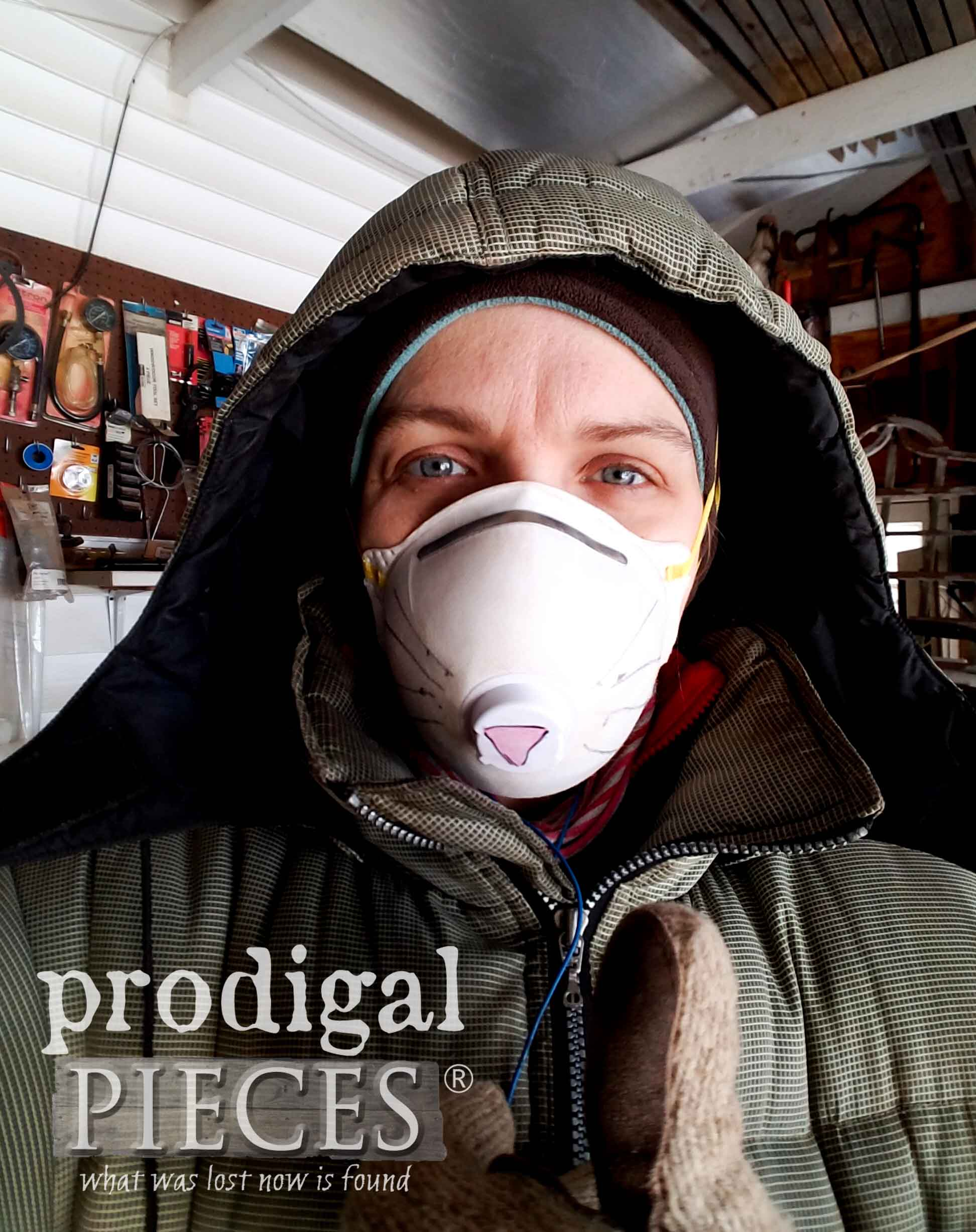 Freezing in the Workshop | Larissa of Prodigal Pieces | prodigalpieces.com