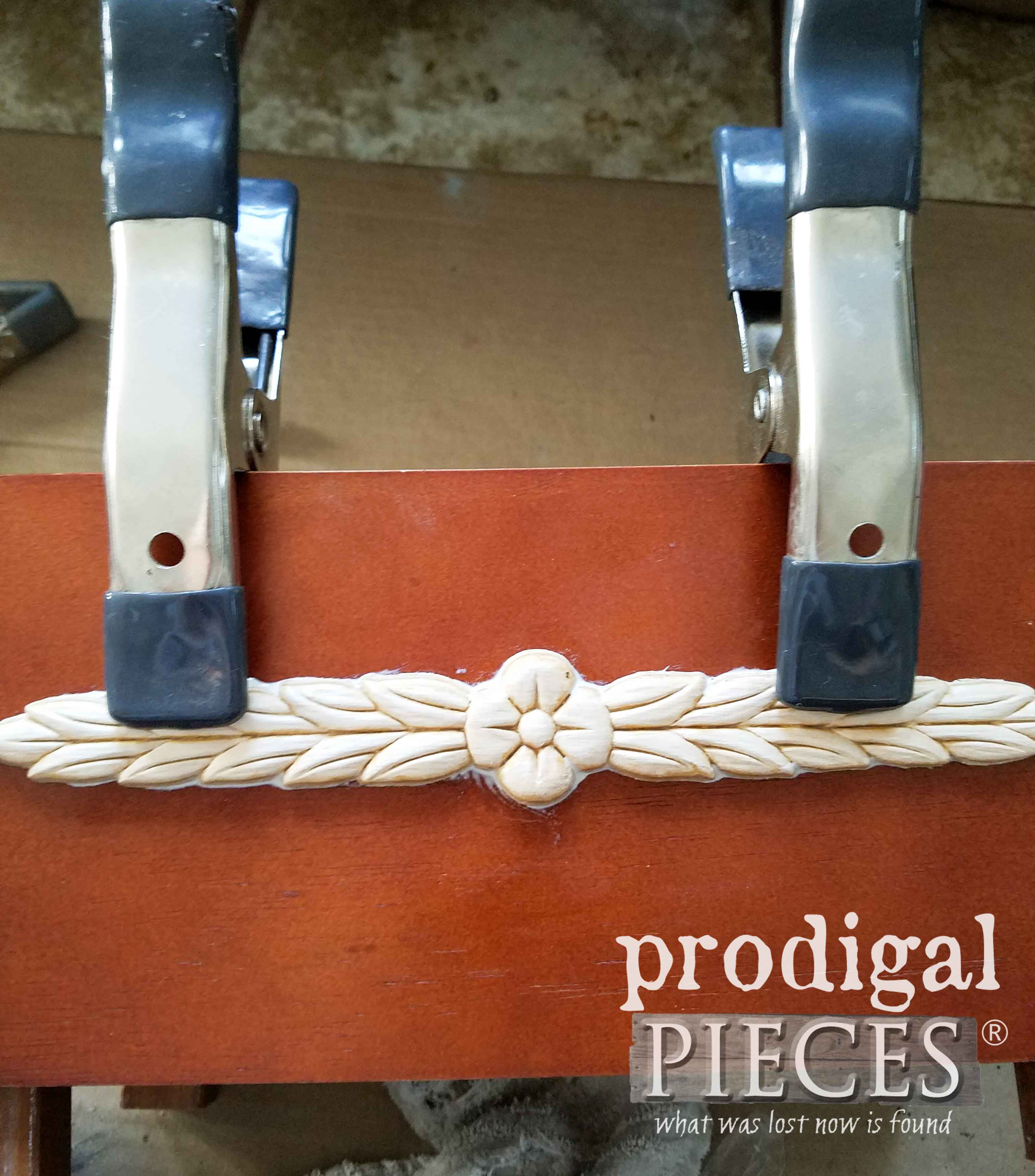 Gluing on Carved Wood Pieces | prodigalpieces.com