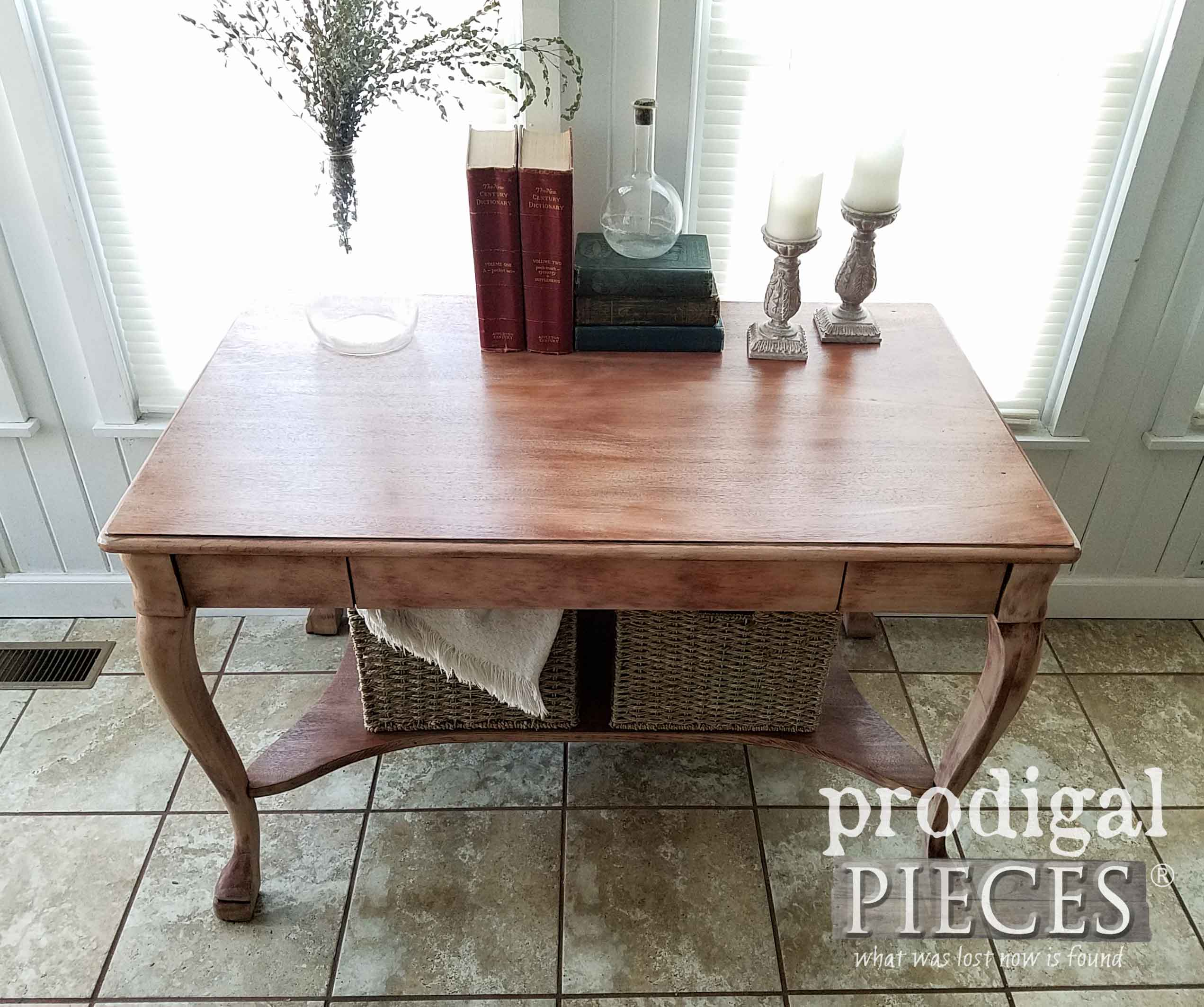 Antique Larkin Co. Library Table restored by Larissa of Prodigal Pieces   prodigalpieces.com